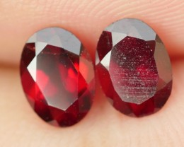 1.80 CRT BEAUTY PAIR RED GARNET-