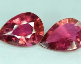 5 Carat ~ Natural Calibrated Pair cut pieces of Rubellite Tourmaline gemsto