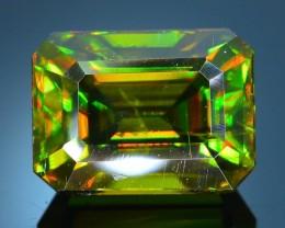 Rare AAA Fire 3.14 ct Chrome Green  Sphene Sku-21