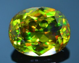 Rare AAA Fire 3.12 ct Chrome Green  Sphene Sku-21