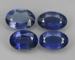 3.50 cts  Beautiful Top Luster Oval Violet Blue Unheated SOUTH~AFRICA Iolit