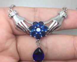 (A18) Stunning Nat 95.0tcw. Tanzanite Glass Necklace