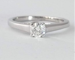 Solitaire Diamond Ring 0.45ct. set in 14k White Gold
