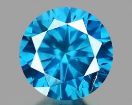 0.17 CT DIAMOND SPARKLING BLUE COLOR BD14