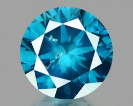 0.21 CT DIAMOND SPARKLING BLUE COLOR BD15