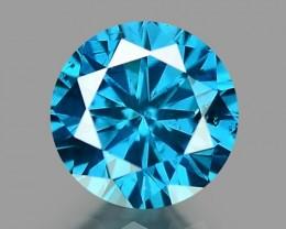 0.13 CT DIAMOND SPARKLING BLUE COLOR BD 20