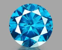 0.14 CT DIAMOND SPARKLING BLUE COLOR BD 24