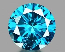 0.14 CT DIAMOND SPARKLING BLUE COLOR BD25
