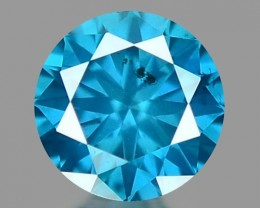 0.13 CT DIAMOND SPARKLING BLUE COLOR BD26