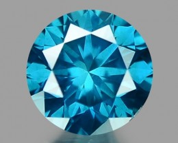 0.14 CT DIAMOND SPARKLING BLUE COLOR BD 36