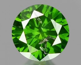 0.15 CT DIAMOND SPARKLING GREEN COLOR GD18