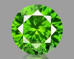 0.16 CT DIAMOND SPARKLING GREEN COLOR GD24