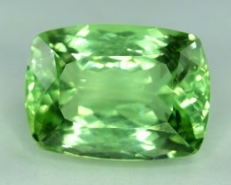 No Reserve ~ 20.05 Carats Lush Green Color Spodumene Gemstone