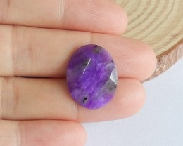 8ct Natural sugilite facted cabochon bead customized jewelry  (18091571)