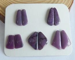 31.5ct Natural sugulite cabochon beads customized jewelry  (18091564)