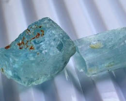 66  CT Natural - Unheated Aquamarine Crystal Rough