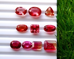 10 Pcs 28.70 Ct Natural - Unheated Rubelite Tourmaline Gemstone