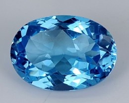 14.40Crt Swiss blue Topaz  Best Grade Gemstones JI105