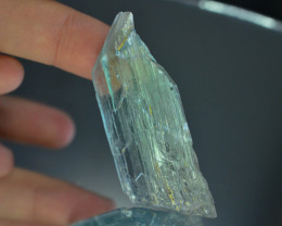 124.05 ct Unheated & Natural Afghan Green color Kunzite Crystal