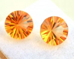 7.71 Carat Citrine Matched Pair