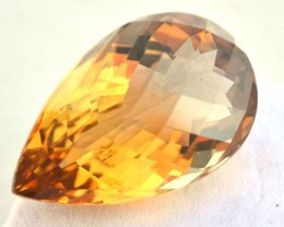 36.26 Carat Citrine -- Fantastic Pear Checkerboard Cut Stone