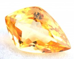 29.33 Carat Citrine -- Fancy Kite Cut Stone