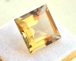 16.69 Carat Citrine -- Nice Square Cut Stone