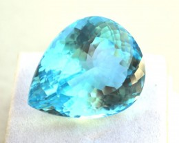 45.75 Carat Topaz -- Fantastic Pear Shaped Sky Blue Stone