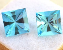 10.42 Carat Topaz Pair -- Fantastic Fancy Square Cut Matched Pair