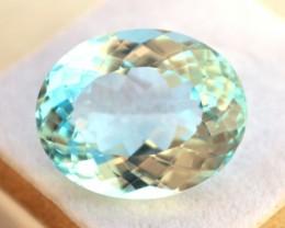 23.96 Carat Topaz -- Oval Cut Sky Blue Stone
