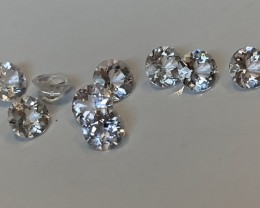 9 PIECE GOSHENITE GEM PARCEL JEWELLERY GRADE GEMS 3.50MM