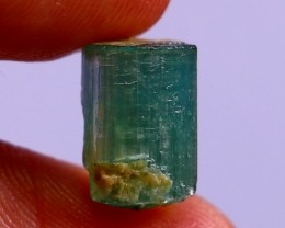 7.05  CT Natural - Unheated  Green Tourmaline   Crystal Specimen