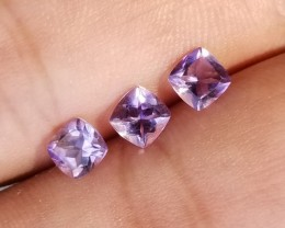 AMETHYST TRIO  Natural+Untreated VA608