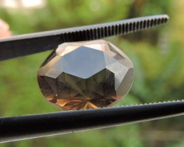 6.10ct 8.60ct VVS FACETED BRAZILIAN SMOKEY QUARTZ GEMSTONE CUT IN THE U.S