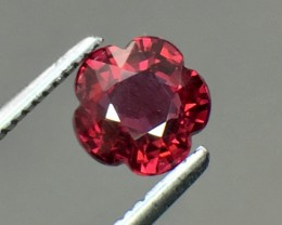 1.35 Cts Cherry Red Garnet Awesome Color ~ Africa AS12