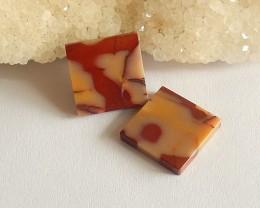 17cts Natural Square Mookite Jasper Cabochon customized jewelry( H1958)