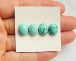 11ct Natural turquoise  cabochon bead customized jewelry  (18091607)