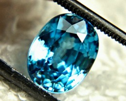5.12 Carat Blue Southeast Asian VVS Zircon - Gorgeous