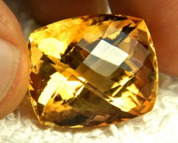 34.95 Carat Vibrant Brazilian VVS Golden Citrine - Gorgeous