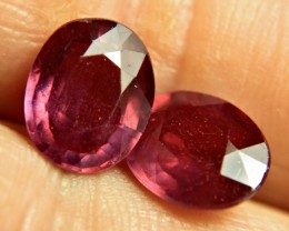 8.33 Tcw. Fiery, Flashy Matched Rubies - Gorgeous