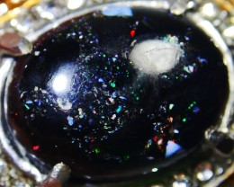 66.00 CT Pin Fire Indonesian Opal Ring Jewelry