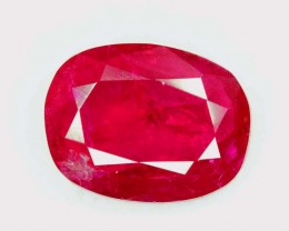 1.95 Carats Oval Cut Shape Natural Afghanistan Ruby Gemstone