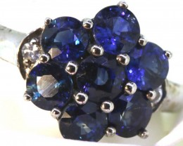 12.90-CTS  BLUE SAPPHIRE RING BLUE AND WHITE  SG-2759