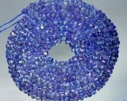 48.10Cts Beautiful Natural Tanzanite Rondelle Beads 33cm