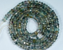 42.73Cts Untreated Natural Bi-colour Tourmaline Rondelle Beads 40cm