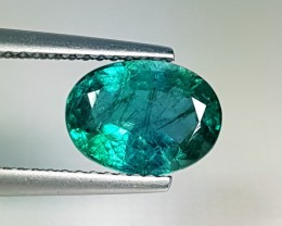 "2.01ct  ""AAA Grade Gem"" Awesome Oval Cut Top Green Emerald"