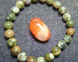 Bracelet Jasper beaded Stone 8 MM