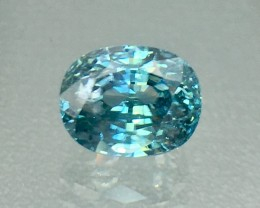 4.25 Cts Blue Zircon Awesome Color ~ Cambodia AS13