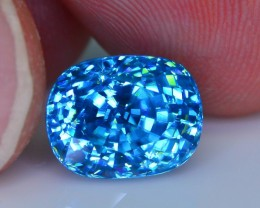 Gil Certified AAA Brilliance 7.97 ct Blue Zircon Cambodia SKU.9