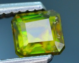 Rare AAA Fire 1.03 ct Chrome Green Sphene Sku-18